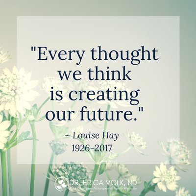 Quote: Every thought we think is creating the future. - Louise Hay