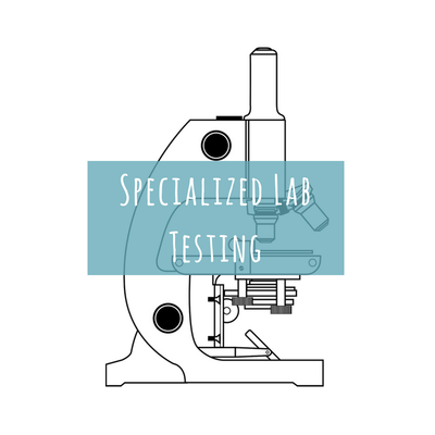 Drawing of a microscope
