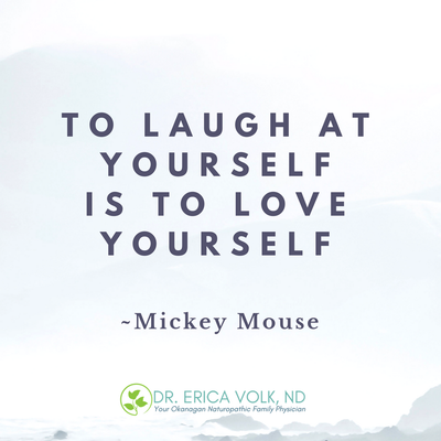 Inspirational quote: To laugh at yourself is to love yourself - Mickey Mouse